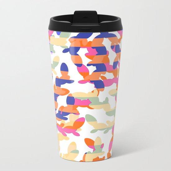 Cactus abstraction Metal Travel Mug