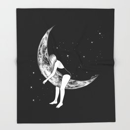 Moon Lover Throw Blanket
