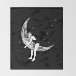 Moon Lover Throw Blanket