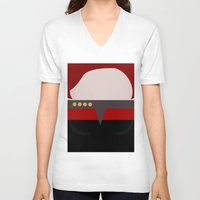 arsenal V-neck T-shirts featuring Captian Katherine Janeway - Minimalist Star Trek: Voyager VOY - trektangle - startrek trektangles by Trektangles