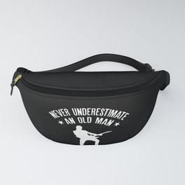 Mens Never underestimate an Old Man with a Bass Guitar Funny Gift Fanny Pack