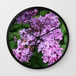 Rainy Day Lilacs Wall Clock