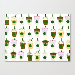 It's Frappuccino Time! Canvas Print