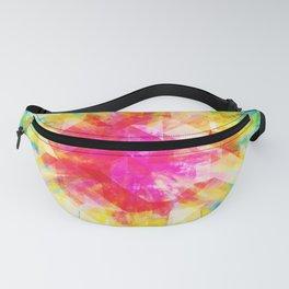GEOMETRIC TIE DYE (Rainbow, Multi color) Fanny Pack