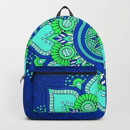 Blue Flower Mandala Backpack
