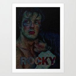 Rocky : Screenplay Print Art Print