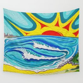 Sunny Surfers Paradise Wall Tapestry