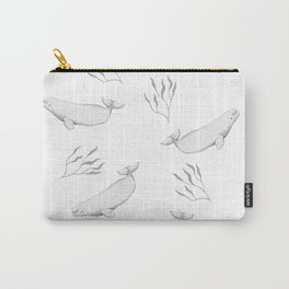 Beluga whale pattern illustration Carry-All Pouch
