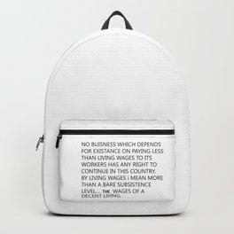 minimum wage Backpack