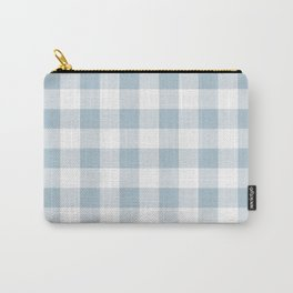 Blue Gingham Carry-All Pouch