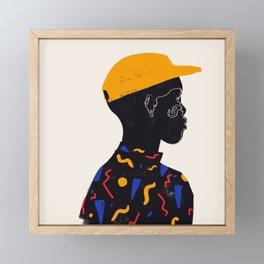 Yellow one Framed Mini Art Print