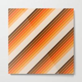Tan Candy Stripe Metal Print