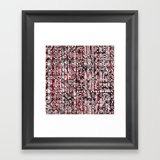 Linear Thinking Trip-Switch (P/D3 Glitch Collage Studies) Framed Art Print