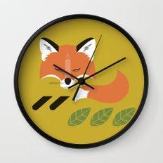 Resting Fox Wall Clock