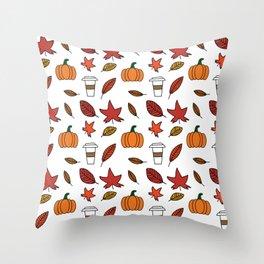 Fall pattern Throw Pillow