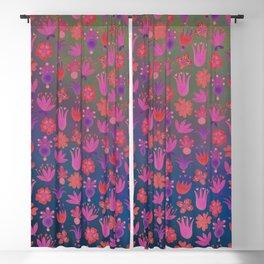 Moon-flowers - Full Moon Blackout Curtain