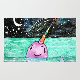 Narwhal Wish Rug