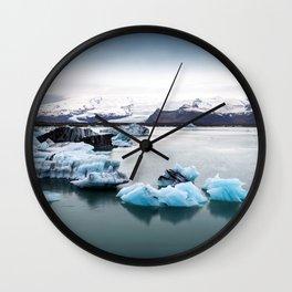 Silence Iceland Wall Clock
