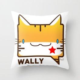 Convo Cats! Wally Throw Pillow