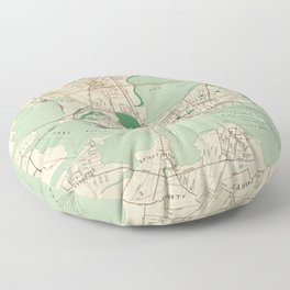 Vintage Map of Portland ME (1906) Floor Pillow