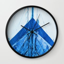 Blue Boat Hull Wooden Boats Fishing Fisherman Seafood Painted Wood Vintage Weathered Nautical Beach Wall Clock