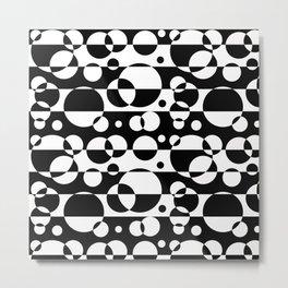 Black White Geometric Circle Abstract Modern Print Metal Print