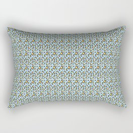 Cheetah pattern blue and yellow Rectangular Pillow