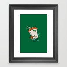 Pumpkin Spice Latte Bot Framed Art Print