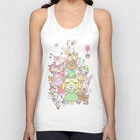 animal crossing Tank Tops featuring Animal Crossing (yellow) by Siri