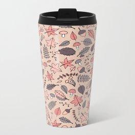 Autumn Pattern Metal Travel Mug