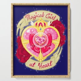 Magical Girl At Heart Serving Tray