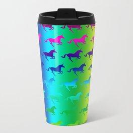 Psychedelic Unicorn Pattern Metal Travel Mug