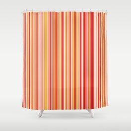 Old Skool Stripes - Red Pumpkin Shower Curtain