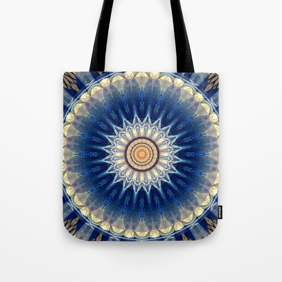 Mandala blue created by Tutti Tote Bag