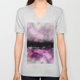 purple and black Unisex V-Neck