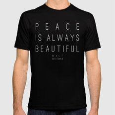 Peace SMALL Black Mens Fitted Tee
