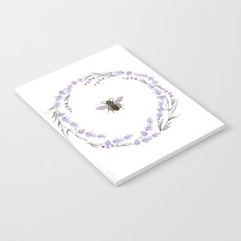 Lavender Bee Notebook