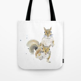 Two Squirrels Tote Bag