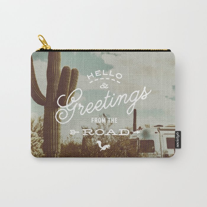 Greetings From The Road (cactus) Carry-All Pouch