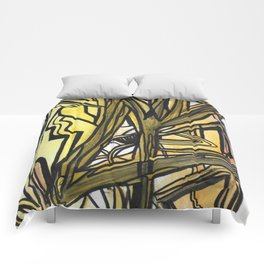 Slingshot Abstract Line Art Painting Comforters