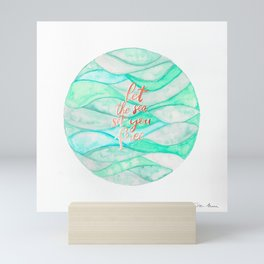 Let the sea set you free - Gold Rose Mini Art Print