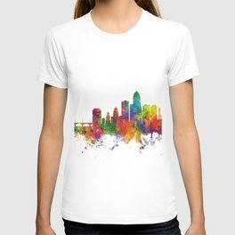 Des Moines Iowa Skyline T-shirt