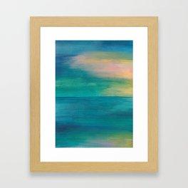Ocean Sunrise Series, 3 Framed Art Print