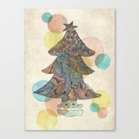 christmas tree Canvas Prints featuring Christmas Tree by sinonelineman