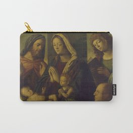 Luca Antonio Buscatti - The Holy Family with the Young St John the Baptist, St John the Evangelist, Carry-All Pouch