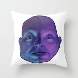 The fear that creeps in the night Throw Pillow