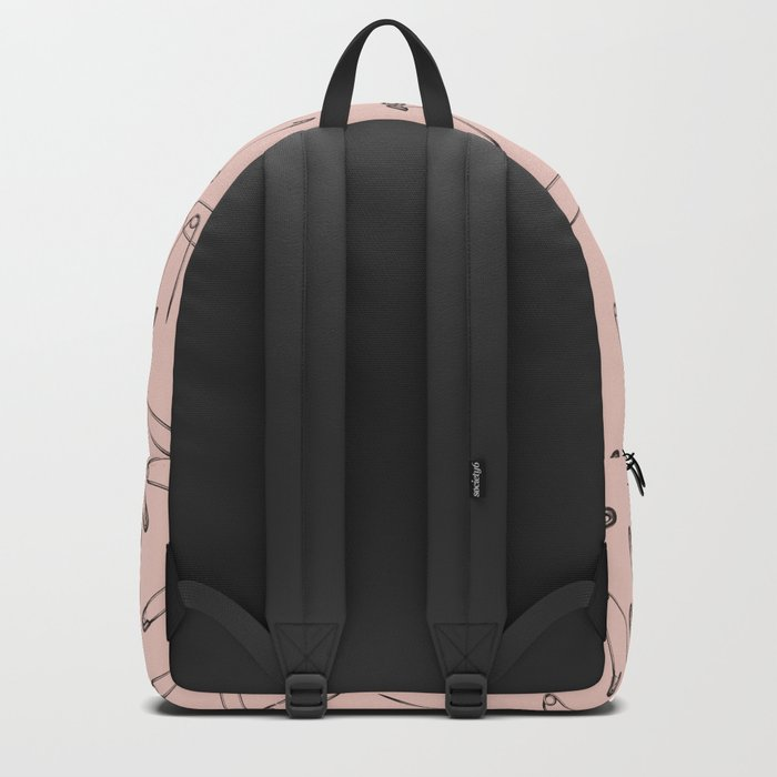 Pink safety pin Backpack