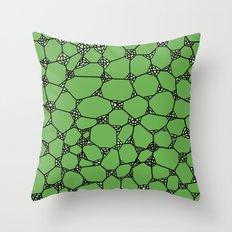 Yzor pattern 006-4 kitai green Throw Pillow