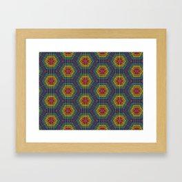 Honeycomb Weave Framed Art Print