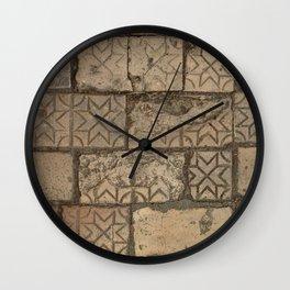 Floor Tiles Wall Clock